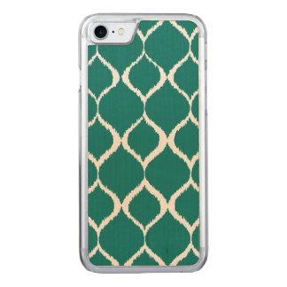 Aquamarines Retro geometrisches Ikat Stammes- Carved iPhone 8/7 Hülle