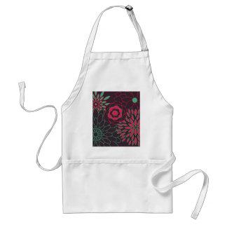 Aquamarines Rosa und moderne Blumen Browns Schürze