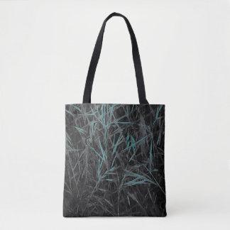 Aquamarines, schwarzes und graues abstraktes tasche