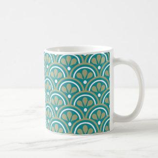 Aquamarines und kakifarbiges kaffeetasse