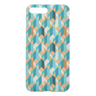 Aquamarines und orange Form-Muster iPhone 8 Plus/7 Plus Hülle