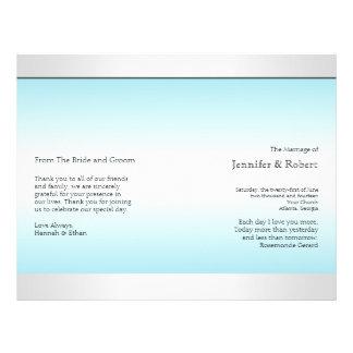 Aquamarines und weißes flyers
