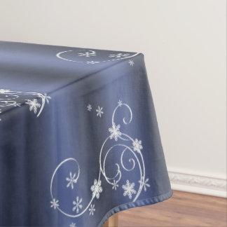 Aquamarines und weißes Wirbels-Weihnachten Tischdecke