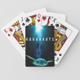 Aquanauts-Logo-Spielkarten Spielkarten