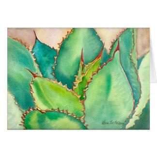 Aquarell-Agaven-Gruß-Karte #2 Karte