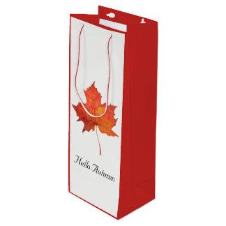 Aquarell-Ahornblatt Geschenktüte Für Weinflaschen
