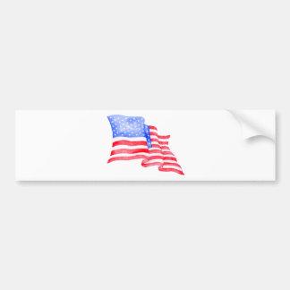 Aquarell-amerikanische Flagge Autoaufkleber