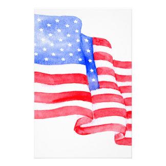 Aquarell-amerikanische Flagge Briefpapier