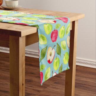 Aquarell-Apfel-Muster Kurzer Tischläufer