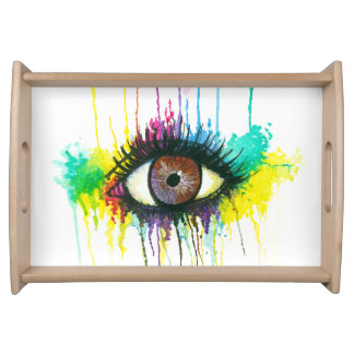 Aquarell-Auge Serviertablett