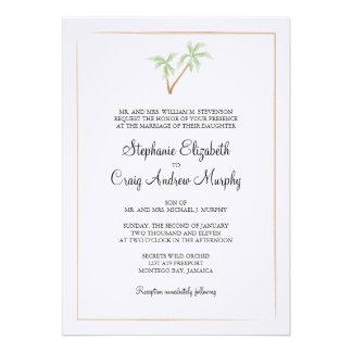 Aquarell-Baum-Hochzeits-Einladung