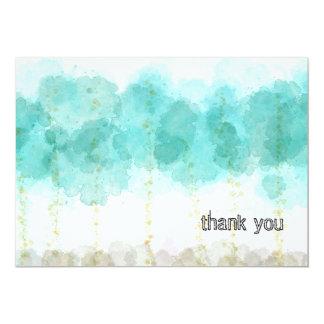 Aquarell-Bäume danken Ihnen zu kardieren 12,7 X 17,8 Cm Einladungskarte