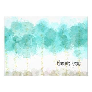 Aquarell-Bäume danken Ihnen zu kardieren Einladungskarte