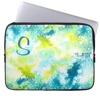 Aquarell-Blasen-Laptop-Kasten kundengerecht Laptopschutzhülle