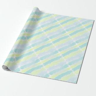 Aquarell-blaues Grün Azur Geschenkpapier