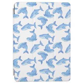 Aquarell-Blauwal-Muster iPad Air Hülle