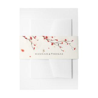 Aquarell-Blumenhochzeit der Einladungsbanderole