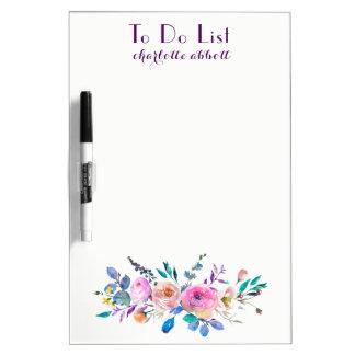 "Aquarell-Blumenmuster "", zum der Liste zu tun "" Memoboard"
