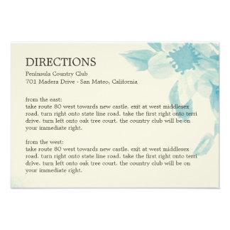 Aquarell-Blumenrichtungs-Karte Personalisierte Ankündigungskarte