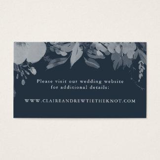 Aquarell-Blumenstrauß-Hochzeits-Einsatz im Visitenkarte