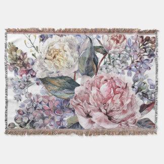 Aquarell-Blumenstrauß-Wurfs-Decke Decke