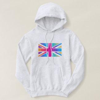 Aquarell-britisches Flaggen-Sweatshirt Hoodie