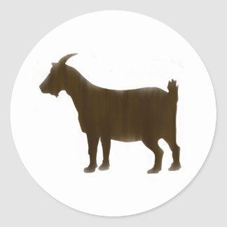 Aquarell-Brown-Ziegen-runder Aufkleber