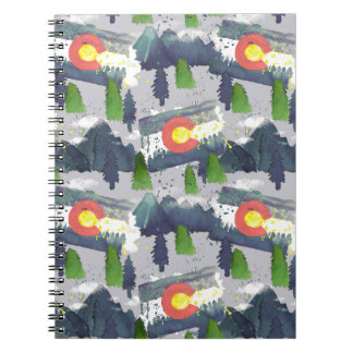 Aquarell-Colorado-Grau Spiral Notizblock