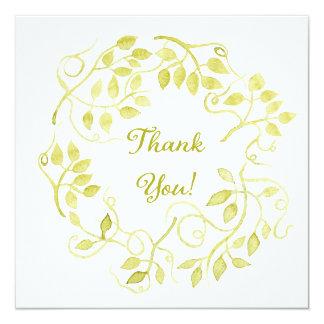 Aquarell danken Ihnen zu kardieren Quadratische 13,3 Cm Einladungskarte