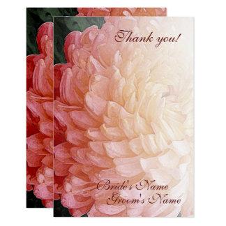 Aquarell-danken rosa Chrysantheme-Hochzeit Ihnen 8,9 X 12,7 Cm Einladungskarte