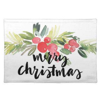 Aquarell des Weihnachten| - frohe Tischset