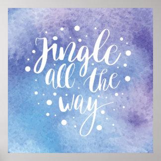 Aquarell des Weihnachten| - Klingel zitieren Poster