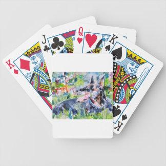 Aquarell DOBERMANN Bicycle Spielkarten