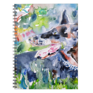 Aquarell DOBERMANN Notizblock