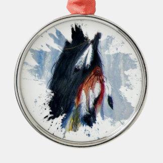 Aquarell-Eagle-Federn Silbernes Ornament