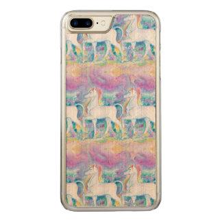 Aquarell-Einhörner Carved iPhone 8 Plus/7 Plus Hülle