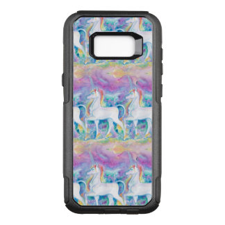 Aquarell-Einhörner OtterBox Commuter Samsung Galaxy S8+ Hülle