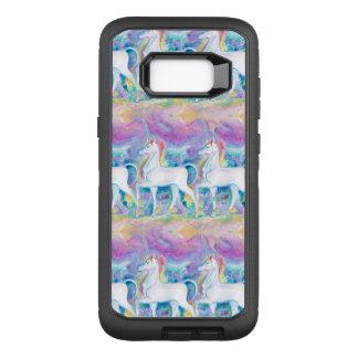 Aquarell-Einhörner OtterBox Defender Samsung Galaxy S8+ Hülle