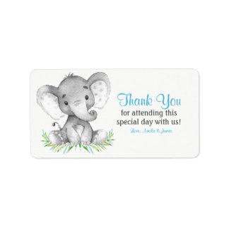 Aquarell-Elefant-Junge danken Ihnen Adressaufkleber