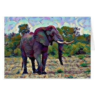 Aquarell-Elefant Karte