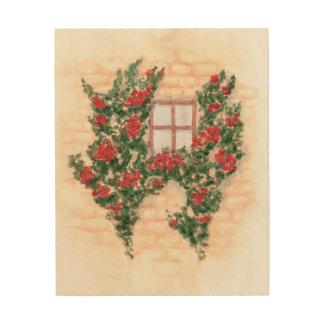 Aquarell-Fenster Holzleinwand