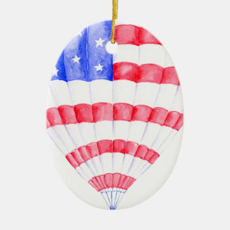 Aquarell-Flagge-Luft-Ballon Keramik Ornament
