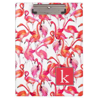 Aquarell-Flamingo in den Aquarellen | addieren Klemmbrett