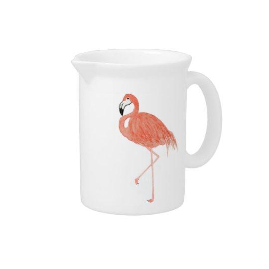 Aquarell-Flamingo-Krug Getränke Pitcher