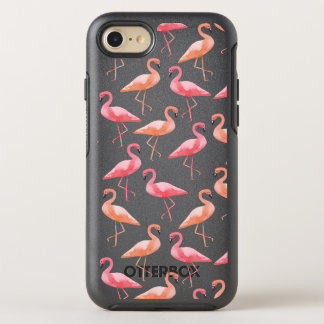 Aquarell-Flamingos OtterBox Symmetry iPhone 8/7 Hülle