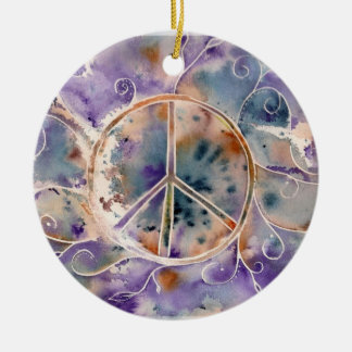 Aquarell-Frieden Ornament