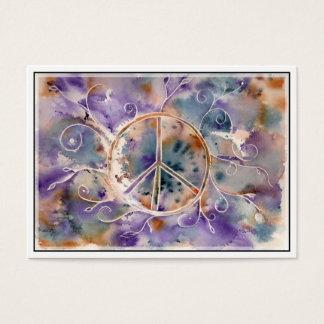 Aquarell-Friedenszeichen Jumbo-Visitenkarten