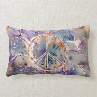 Aquarell-Friedenszeichen Kissen