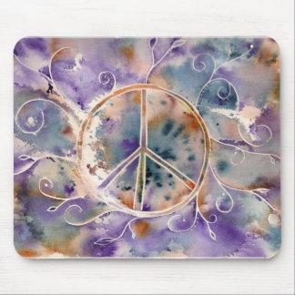 Aquarell-Friedenszeichen Mauspads