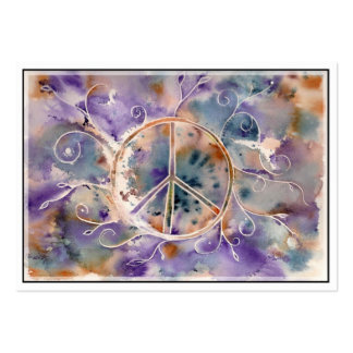 Aquarell-Friedenszeichen Mini-Visitenkarten